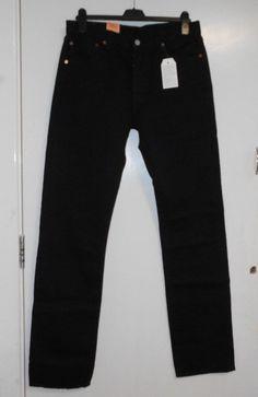 3b535ee5313 Mens Levi s 501 Black Straight Jeans W32 36L CS077 EE 14  fashion  clothing