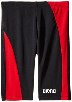 746cb57b44 Arena Boys Directus Jammer, Black/Asphalt/Red, Size 26. MaxLife fabric