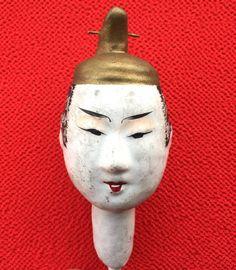Japanese Hina Matsuri Doll Head Doll Head by FromJapanWithLove