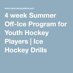 4 week Summer Off-Ice Program for Youth Hockey Players | Ice Hockey Drills