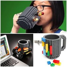 Create a new mug every morning with one of these Lego Mugs!