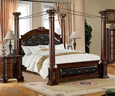 Shop for a Cindy Crawford Home Trinidad 6 Pc King Canopy Bedroom ...