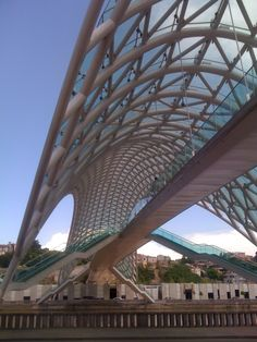 Tbilisi Bridge of Peace Canopy From Below