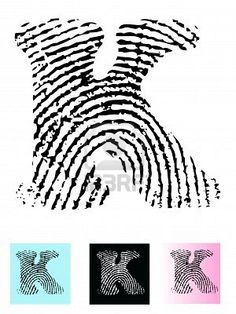 First letter of each kids names using their thumb print!? Cool idea!