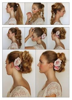 How To Make a Messy Braided Bun | hairstyles tutorial