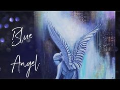 Blue Angel - Abstract Angel Painting in Acryl Angels Among Us, Blue Angels, Painting Videos, Angel Art, Fantasy, Abstract, Tv, Artwork, Instagram