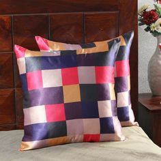 Give your décor a pop of color with these cushion covers.
