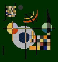 This cross stitch PDF pattern is inspired by the work of Wassily Kandinsky in 1926. Art Movement: Expressionism This PDF pattern includes: – full color … The post Counterbalance PDF cross stitch pattern appeared first on Easy Peasy Stitches.