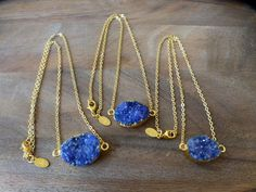 Purple Druzy Necklace by HastonKing on Etsy