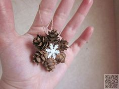 29. Mini Pine Cone #Wreath Ornament - 35 Pine Cone Crafts to Add a #Seasonal Touch to Your Home ... → DIY #Crafts
