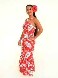 Hula Dress S381 Luau Dress, Tiki Dress, Hawaii Dress, Polynesian Dresses, Hawaiian Dresses, Samoan Dress, Tahiti, Different Dress Styles, Island Wear