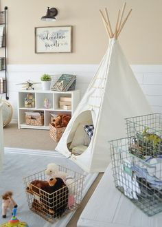 Little Vintage Farmhouse | Modern Farmhouse Playroom Makeover