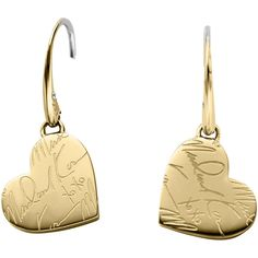 Michael KorsGolden Etched Signature Heart Earrings DetailsMichael Kors earrings. Approx. 29 x 15mm. Golden stainless steel. MK signature etched heart drops. Fi…