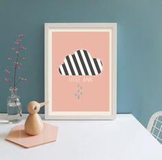 "Digitaldruck, POSTER ""Wolke"" // artprint ""cloud"" by Little Man Happy via DaWanda.com"