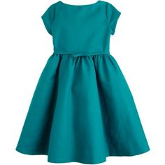 J.Crew Girls' Collection cotton cady Lillie dress (520 BRL) ❤ liked on Polyvore featuring baby, baby clothes, kids and children