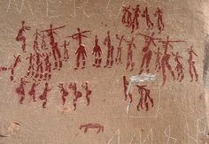 Pre-historic rock drawings in South Africa