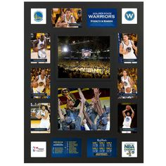 Golden State Warriors Fanatics Authentic 2015 NBA Finals Champions Framed 29'' x 22'' Multi-Photo Collage - $49.99