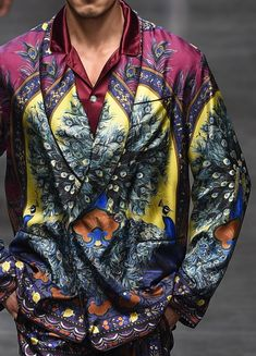 patternprints journal: PRINTS, PATTERNS, TEXTURES AND TEXTILE SURFACES FROM MENSWEAR S/S 2016 COLLECTIONS / MILANO CATWALKS Dolce & Gabbana.
