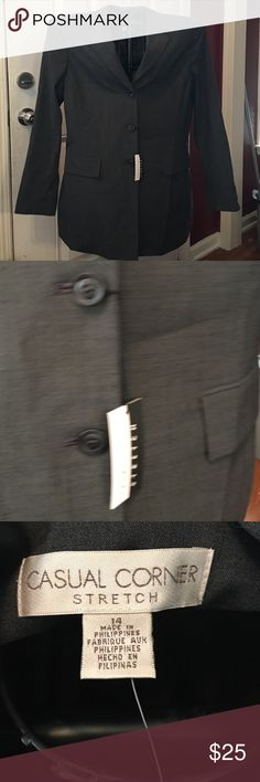 Casual Corner Blazer Beautiful dark grey blazer NWT. Never worn casual corner Jackets & Coats Blazers