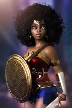 """""""Happy all, Its Themyscira Thursday so time for a Great Nubia / Wonder Woman piece by our good friend Rhayven RT to support 😎 Black Love Art, Black Girl Art, Black Girls Rock, Black Girl Magic, Black Comics, Dc Comics, Wonder Woman Art, Wonder Woman Logo, Black Cartoon Characters"""