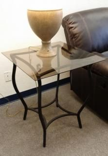 """26"""" X 26"""" side table measuring 29"""" high $89.00"""