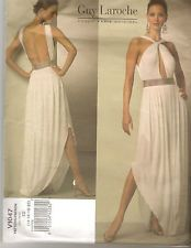 Vogue Guy Laroche Evening Dress Sewing Pattern V1047 Out of Print Size 14- 20