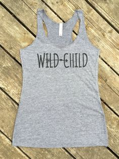 Wild Child Tri-Blend Tank, Women's Country Lifestyle Apparel Tank Boho Gypsy Cowgirl Style by BackwoodsGypsyCo on Etsy