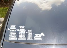 normally I hate these types of stickers, but Daleks and K-9?  For sure.
