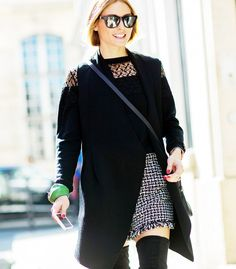 Black on black with a statement skirt and over the knee boots.  // Photo: The Styleograph #Streetstyle #PFW