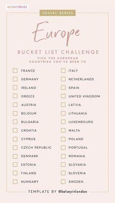 EU Country Bucket List
