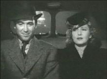 """James Stewart and Jean Arthur in a taxicab in """"Mr. Smith Goes to Washington"""""""