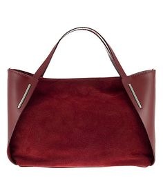 Suede-Block Leather Shoulder Bag leather handbags 2018 - Another! Tote Handbags, Purses And Handbags, Leather Purses, Leather Handbags, Leather Bags, Red Leather, Best Bags, Beautiful Bags, My Bags