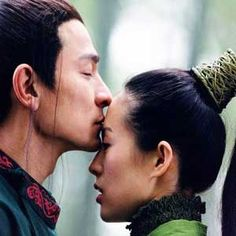 House of Flying Daggers  I love the way he kisses her in this scene, Umph!!!