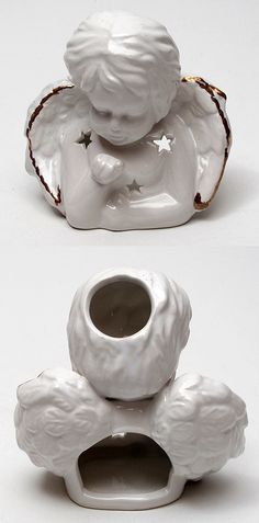 Angel Porcelain Scented Oil Burner - to be used with a tea light candle to heat your scented oil that you pour in the top. Measures 4 x 4 2 Tea light candle and oil not included. Amazon Beauty Products, Homemade Beauty Products, Baking Soda Health, Table Fountain, Oil Warmer, Halloween Candles, Oil Burners, Scented Oils, Beautiful Candles