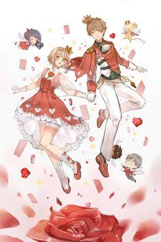 Cardcaptor Sakura, Sakura Kinomoto, Anime Angel Girl, Anime Art Girl, Anime Kiss, Sakura Card Captors, Clear Card, Cute Anime Couples, Magical Girl