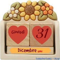 TuttoPerTutti: 31 DICEMBRE 2015 - Giovedì - Ultimo giorno dell'anno - S.Silvestro Ultime ore alla fine dell'anno! Buon 2016i! Che sia un nuovo anno pieno di belle sorprese e gioia per tutti! Compleanni, addii, storia e le notizie curiose: Almanacco completo in 1 clik sul blog ----> http://tucc-per-tucc.blogspot.it/2015/12/31-dicembre-2015-giovedi-ultimo-giorno.html