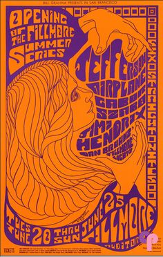 Jefferson Airplane And Jimi Hendrix Original Concert Poster Vintage Rock Poster Fillmore Auditorium Concert Posters, Psychedelic Art, Psychedelic Typography, Gig Posters, Psychedelic Poster, Art, Festival Posters, Music Poster, Vintage Concert Posters