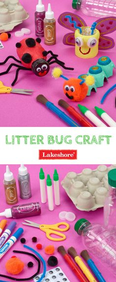 Our Litter Bug craft is a great way to celebrate Earth Day and teach little ones about reusing and recycling!