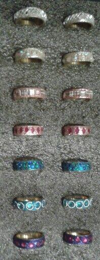 Glitter rings Silver Rings, Glitter, Jewellery, Jewels, Schmuck, Jewelry Shop, Jewlery, Sequins, Jewelery