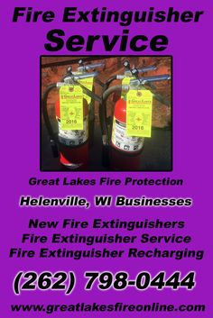 Fire Extinguisher Service Helenville, WI (262) 798-0444We're Great Lakes Fire Protection.. The Main Source for Fire Protection for Wisconsin Businesses. Call Today!  We would love to hear from you.