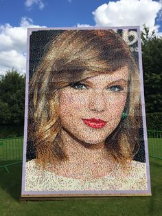 Taylor Swift Lego portrait