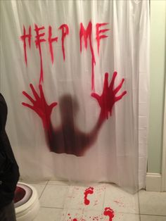 Scary Halloween Bathroom Decor | Hot Halloween Decor | Pinterest ...