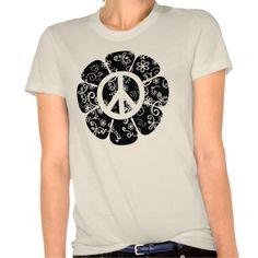 Peace Flower Tees! #peaceflowershirts #retroshirts For tons more visit http://www.zazzle.com/tshirts?rf=238308729910790362