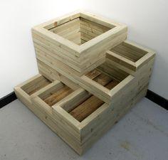 Not as spiral wooden planter