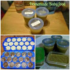 Fada do Lar: Preparar e congelar comida de bébé -- Homemade baby food