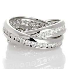 1.98ct Absolute™ Channel-Set Double-Band Rolling Ring at HSN.com.