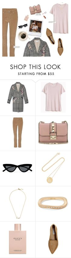 """Just Coffee"" by hollowpoint-smile ❤ liked on Polyvore featuring Zuhair Murad, Loro Piana, Valentino, Le Specs, Jennifer Meyer Jewelry, Stephen Webster, Sophie Bille Brahe, Puma, Gucci and Steve Madden"