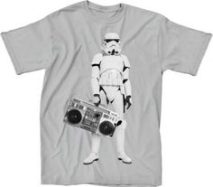 How can you not love this Storm Trooper Boombox t-shirt? So Awesome!