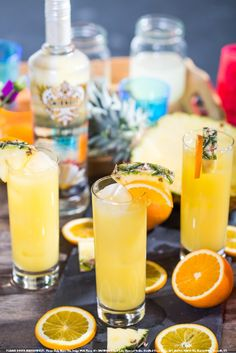 The Celebration with 2 oz. Smirnoff® Iced Cake Flavored Vodka, 1 oz. orange juice, 1 oz. pineapple juice and top with club soda. Build in a highball glass over ice and top off with club soda