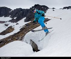 Cairngorm, Aviemore, Scotland, UK. 28th May, 2014. Freeride skier gets in some last turns and lines of the season on a remote part of the Cairngorms. Credit: Kenny Ferguson/Alamy Live News